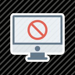 avoid, ban, block, screen, stop icon