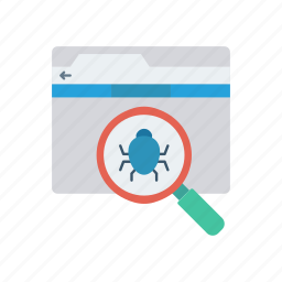 bug, insect, search, virus icon