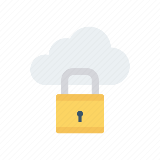 cloud, lock, privacy, security icon