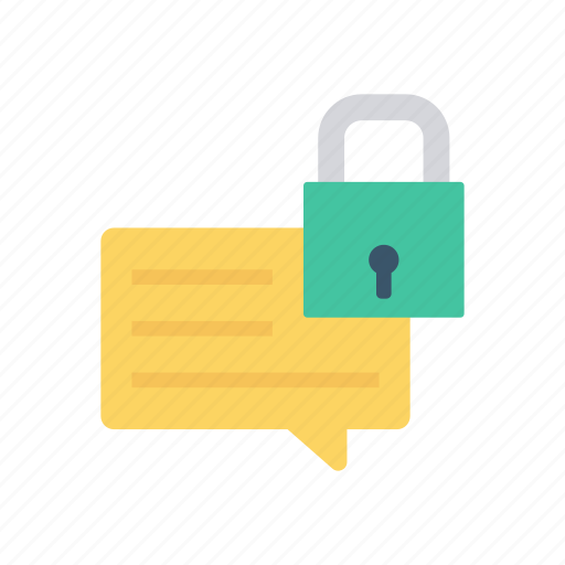 comment, lock, protect, secure icon