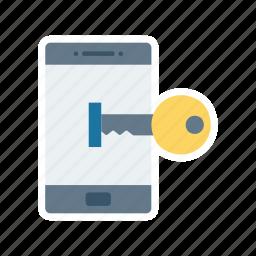 access, enter, key, login icon
