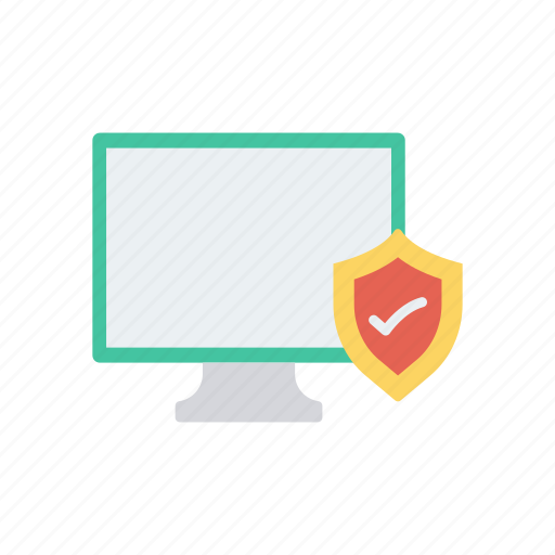 monitor, protection, secure, shield icon