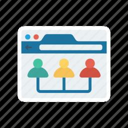 group, management, online, organization, team icon