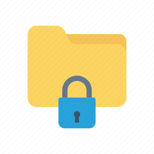 folder, lock, private, secure icon
