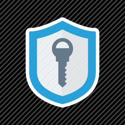 access, key, shield, unlock icon