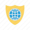 global, protection, security, shield icon