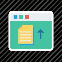 document, export, upload, webpage icon