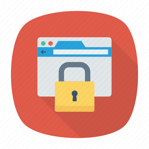 browser, lock, protection, security icon