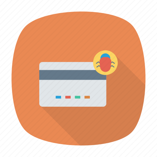 bug, creditcard, insect, virus icon