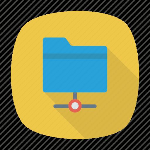 data, document, folder, share icon