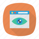 eye, review, watch, view icon
