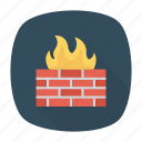 fire, protection, security, wall icon