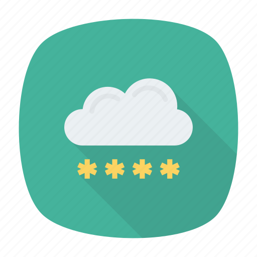 cloud, login, password, secure icon