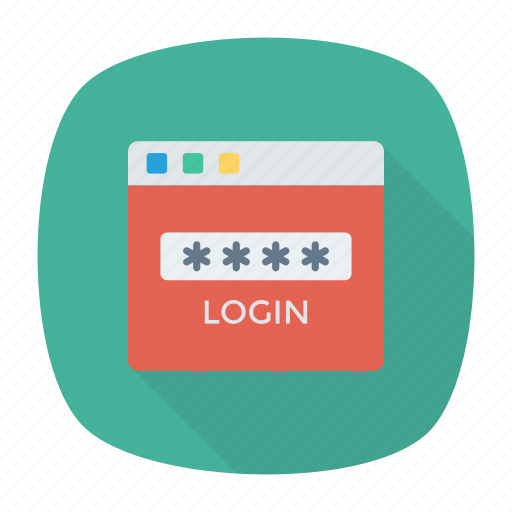 access, key, login, password, web icon