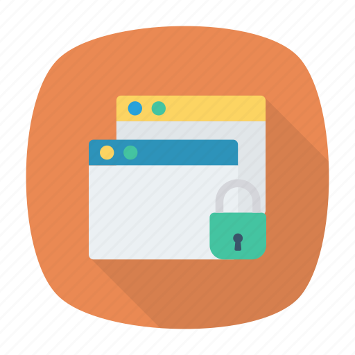 browser, lock, protect, secure icon