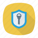 access, key, shield, unlock icon