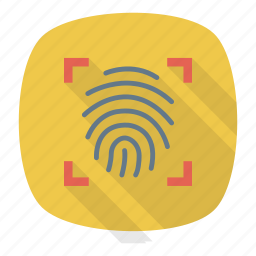 protection, scanner, security, thumb icon