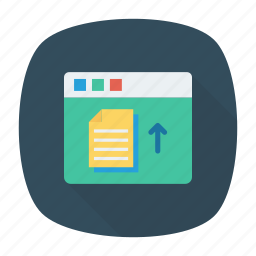 document, export, upload, webpage icon
