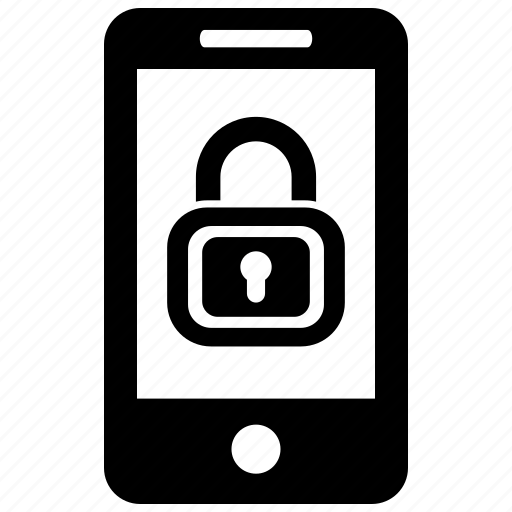 lock, mobile, security icon