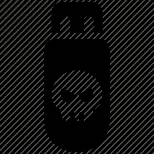 malware, usb, virus icon