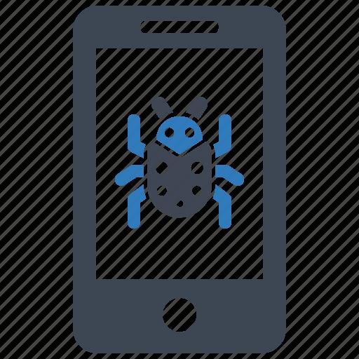 malware, mobile, virus icon