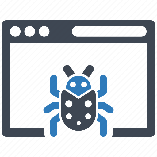 bug, computer, virus icon