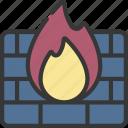 firewall, cybersecurity, secure, fire, wall