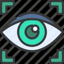 retina, scan, cybersecurity, secure, eye