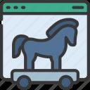 website, trojan, horse, cybersecurity, secure