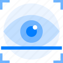eye, lock, protection, scanner, secure icon icon
