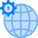 global, lock, security, setting, world icon icon