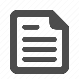 document, file, page, paper, sheet, text icon