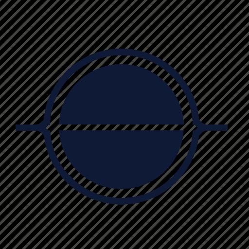 black hole, gargantua, orbit, planet, satellite, saturn, space icon