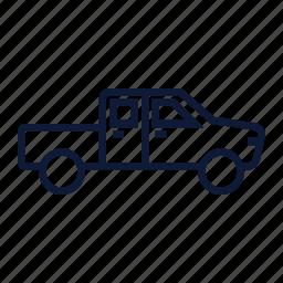 car, dodge, pickup, truck, wagon icon