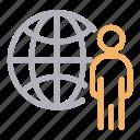 avatar, global, world, user, employee icon
