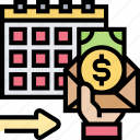 budget, salary, payment, monthly, wage icon