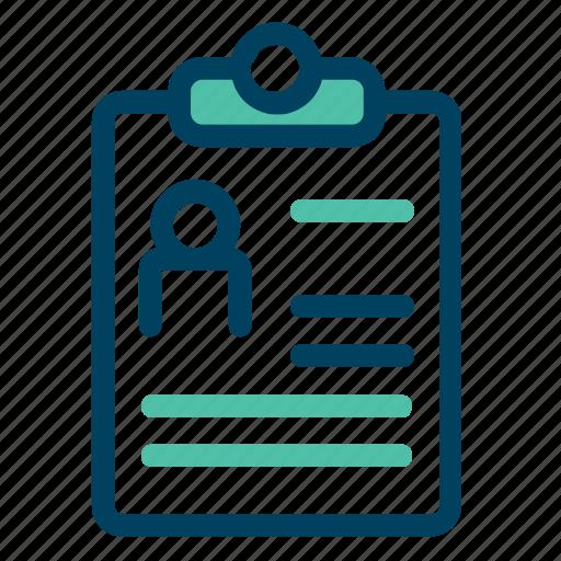 cv, doc, file, person, text icon