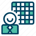 board, net, office, person, protrusion icon