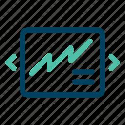 change, chart, diagram, screen, skip icon