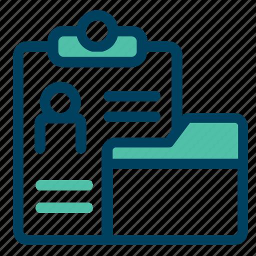 cv, document, folder, profile, summary icon