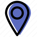 gps, interface, location, mark, site, ui, web icon