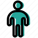figure, human, man, stick, stickman icon