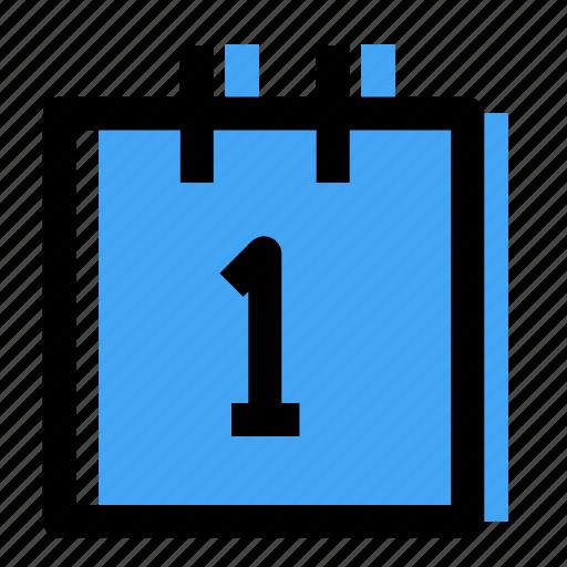 calendar, data, number icon