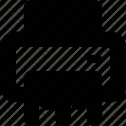 paper, print, printer, shredder icon