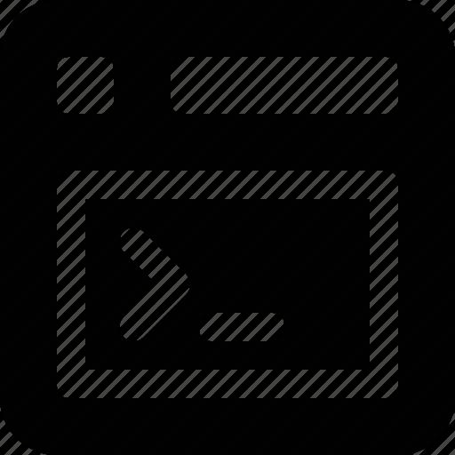 program, terminal, window icon