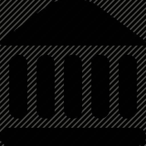 bank, building, court, economy, finance, money, museum, trade icon