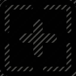 add, drop, field icon