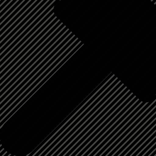 arrow, right, up icon