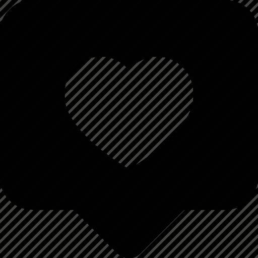 bubble, chat, comment, forum, love, message, speech, talk, text icon