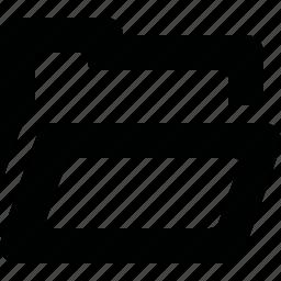 folder, open, paper, profile icon